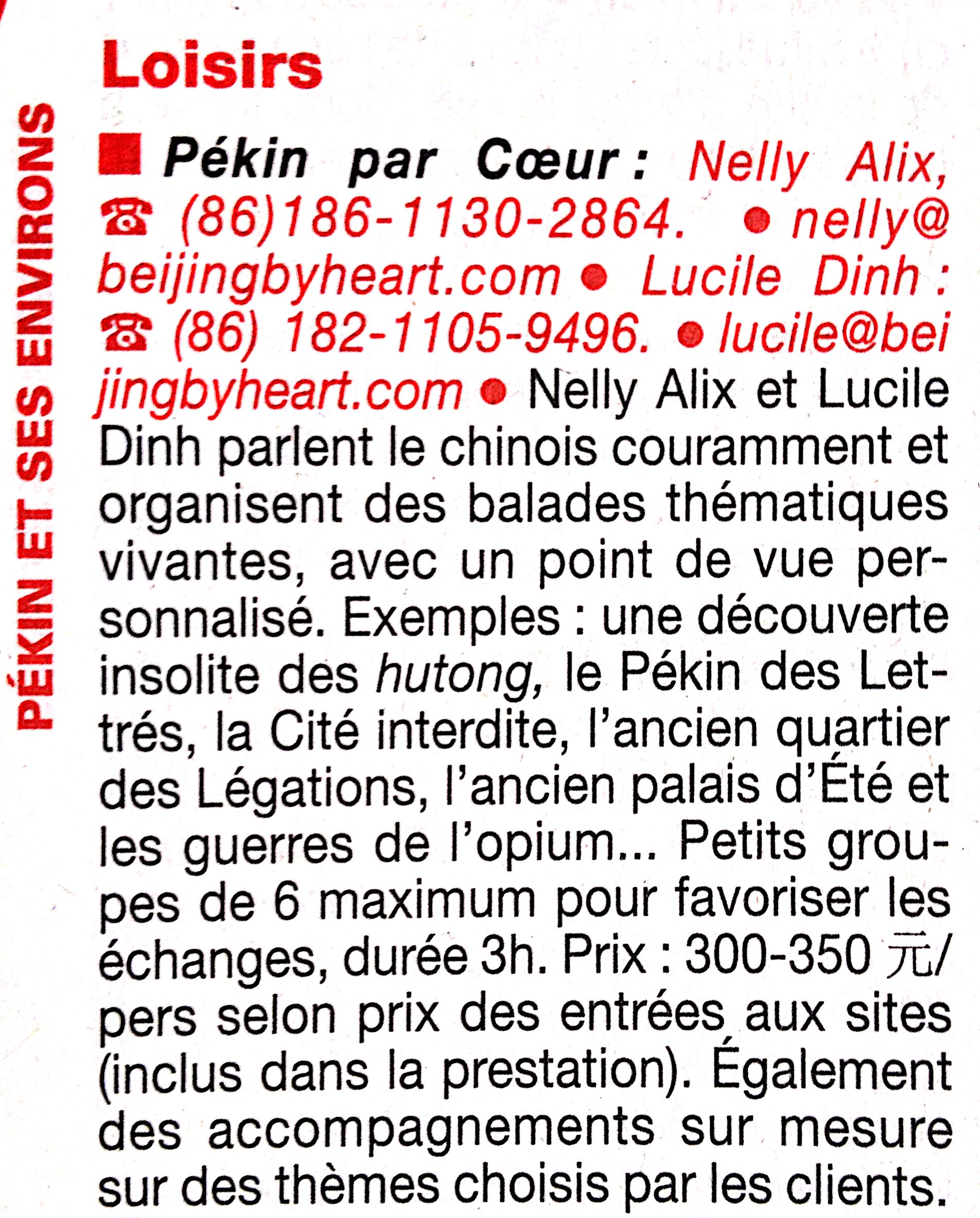 Beijing by Heart in Le Guide du Routard